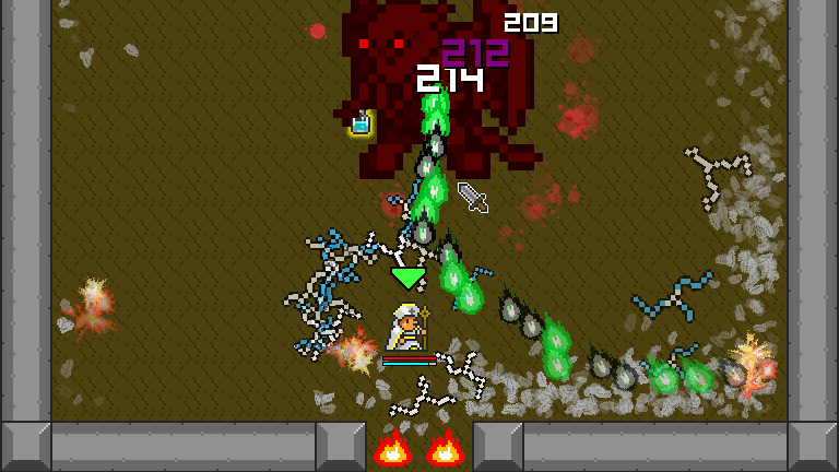 Overture's boss battles take place in tightly enclosed spaces.