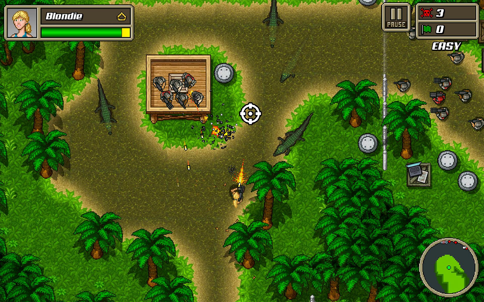 Kick Ass Commandos jungle scene with vicious crocs!