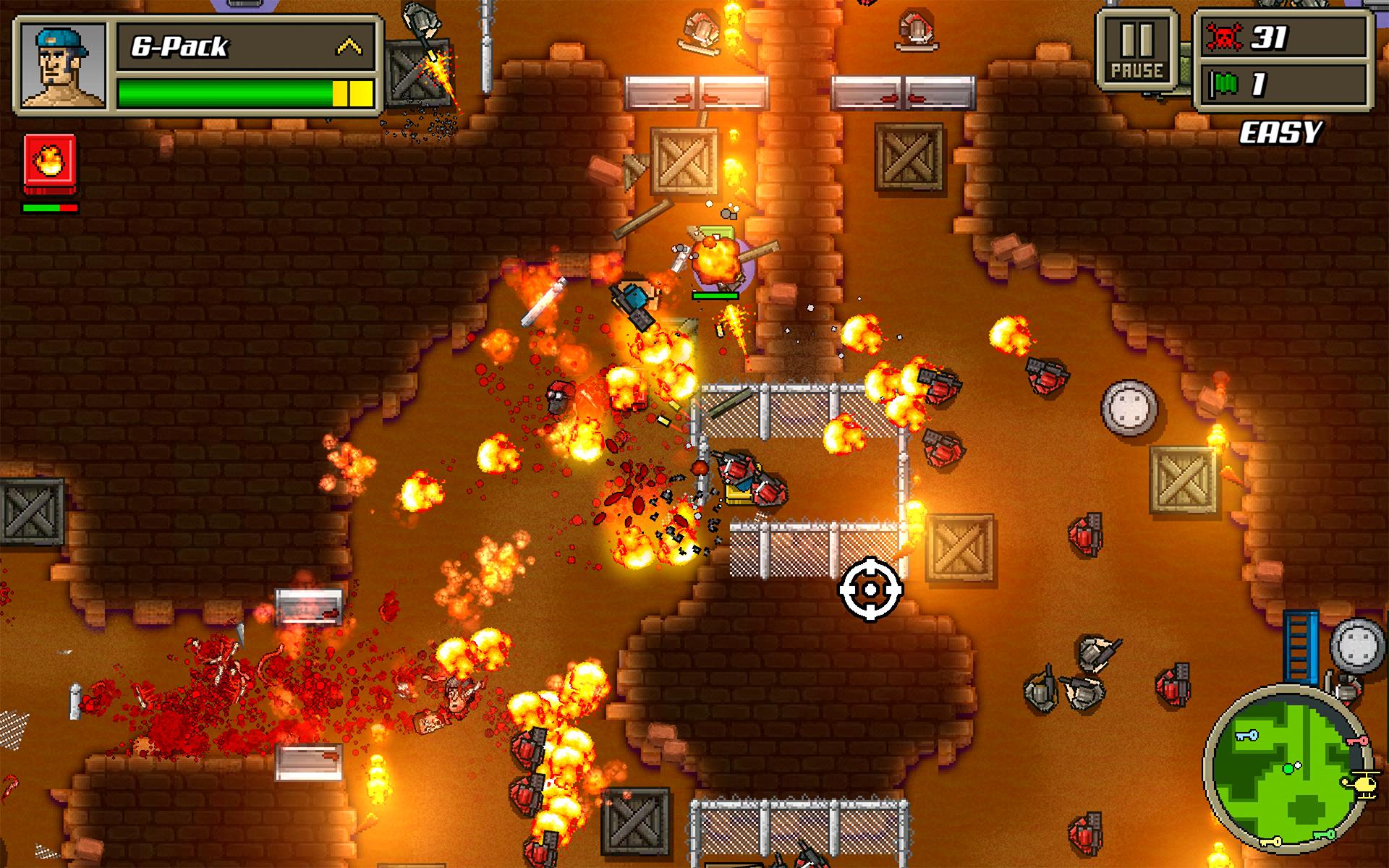 Kick Ass Commandos firefight with literal fire.